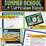SUMMER SCHOOL ELA CURRICULUM BUNDLE!!!!! - Middle School