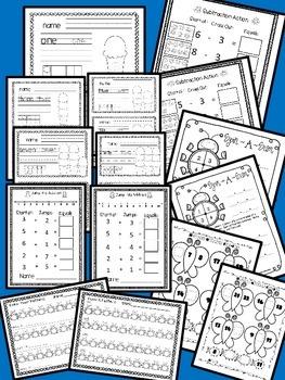 SUMMER SCHOOL {NO PREP} MATH BASIC SKILLS & KINDERGARTEN