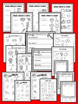 SUMMER SCHOOL {NO PREP} READING BASIC SKILLS & KINDERGARTEN