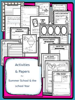 SUMMER SCHOOL WRITING  {2ND, 3RD, & 4TH GRADE} - NO PREP