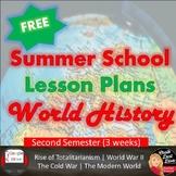 SUMMER SCHOOL World History High School 2nd Semester Plan FREE!