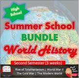 SUMMER SCHOOL World History MEGA BUNDLE High School 2nd Semester Digital   Print