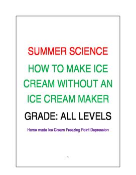 SUMMER SCIENCE ICE CREAM