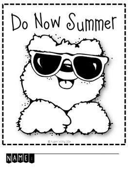 "SUMMER SEND HOME ""DO NOW"" PRINTABLE PACKET"