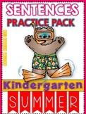 SUMMER SENTENCES PRACTICE PACK