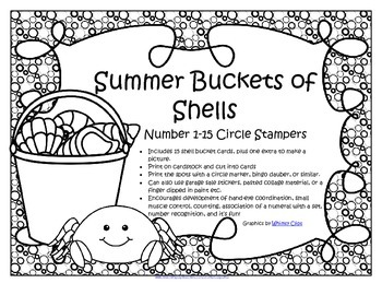 Summer Shells Counting with Dot Markers