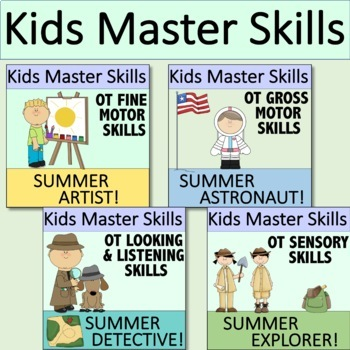 SUMMER SKILLS Bundle - Occupational Therapy Skills for Summertime