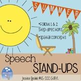 SUMMER Speech Stand Ups: Following Directions