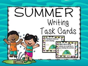 Summer Vacation Writing Task Cards