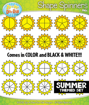 SUMMER Sun Spinners Clipart {Zip-A-Dee-Doo-Dah Designs}