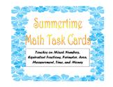 SUMMER THEMED MATH TASK CARDS