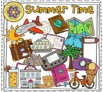 SUMMER TIME - 40 ClipArts