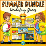 SUMMER VOCABULARY Games Bundle | End of Year Printable and Digital Activities