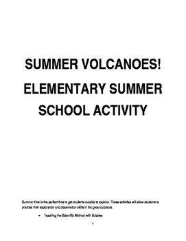 SUMMER VOLCANOES SCIENCE PROJECTS