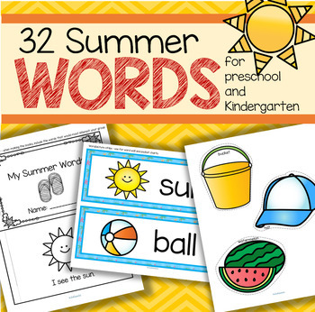 SUMMER Vocabulary Center and Group Activities for Preschool and Kindergarten