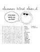SUMMER WORD SEARCHES, BUNDLE 5 PAGES, SUMMER ACTIVITIES, END OF YEAR ACTIVITIES