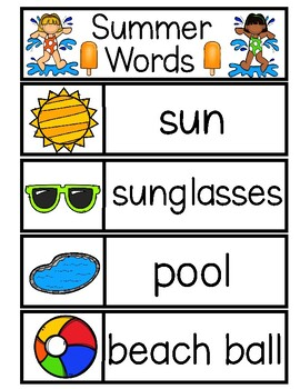 SUMMER Word Cards {Capital & Lowercase