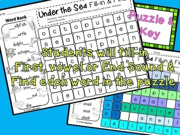 SUMMER Word Search: Fill-in-and-Find Phonics Puzzles (End of the year)