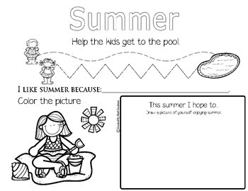 SUMMER activity mat