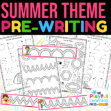 SUMMER pre-writing pack | preschool tracing pages | PENCIL