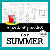 END of the  YEAR / SUMMERTIME pack of puzzles