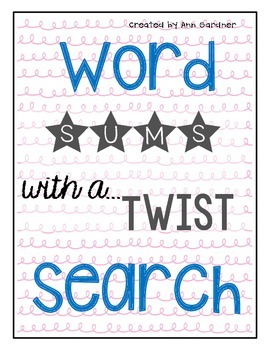 SUMS... with a Twist!  Word Search Collection Preview