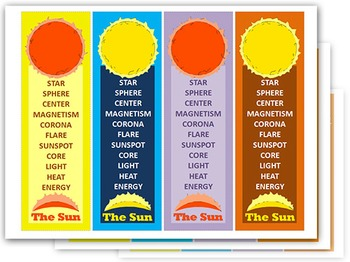 SUN Bookmarks ( 5 sheets )