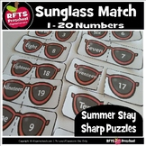 SUN GLASS NUMBER MATCH TO 20 SUMMER PUZZLES – 3 PACK PUZZLES