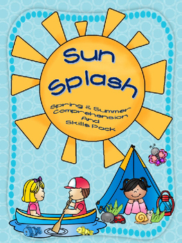 SUN SPLASH {NO PREP} SPRING & SUMMER COMPREHENSION PRINTABLES