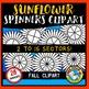 SUNFLOWER SPINNERS CLIPART: FALL CLIPART: SUNFLOWERS CLIPART: AUTUMN CLIPART