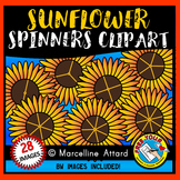 SUNFLOWER SPINNERS CLIPART FOR AUTUMN/ FALL
