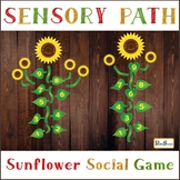SUNFLOWER Sensory Floor path, Colorful hopscotch, Floor decal,  Waldorf stickers