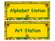 SUNFLOWER Themed Station/Center Signs - Great Classroom Management!  BEAUTIFUL!