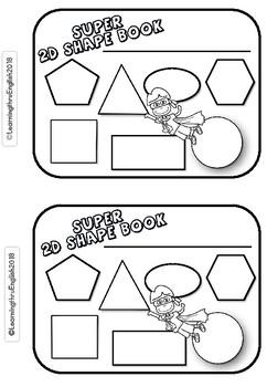 SUPER 2D SHAPE BOOK - MATCH CUT PASTE COLOUR DESCRIBE SIDES