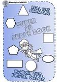2D SHAPE BOOK - MATCH CUT PASTE COLOUR DESCRIBE SIDES