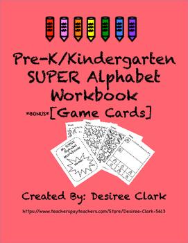 SUPER Alphabet Workbook with Bonus Game Cards