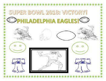 SUPER BOWL 2018: PHILADELPHIA VICTORY COLORING PAGE