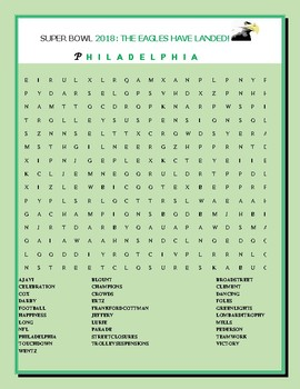 SUPER BOWL  2018:  PHILADELPHIA VICTORY: THE EAGLES
