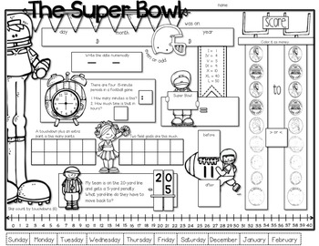 SUPER BOWL MATH {Freebie}