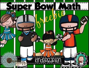 SUPER BOWL MATH for Kindergarten {Freebie}