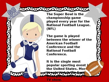 SUPER BOWL POWER POINT...Are you ready for some football?