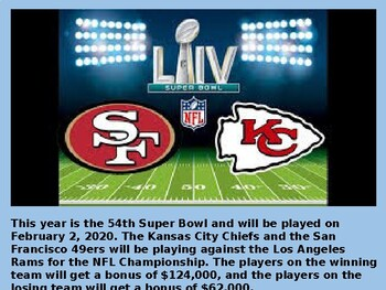 Super Bowl Power Point Are You Ready For Some Football By Mrs Finn