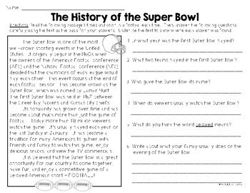 Celebrate with the SUPER BOWL {Close Reading, Writing & Math Activities}