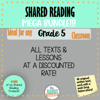SUPER BUNDLE Shared Reading Lessons and Texts *GRADE 5*