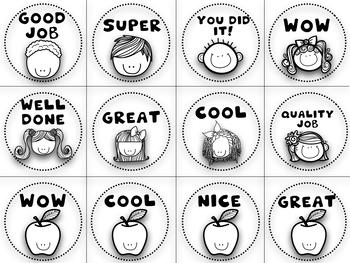 100 + SUPER CUTE Reward Stickers set + Brag tags