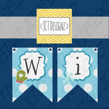 SUPER CUTE WINTER BANNER: Just print, cut, and hang!