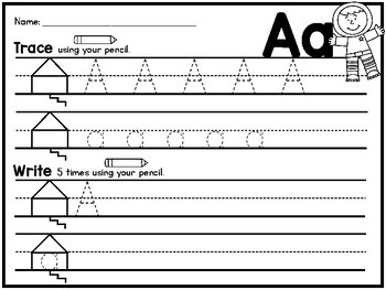 {SUPER CUTE} handwriting practice pages Orton-Gillingham style - Zaner-Bloser!!