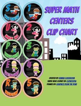 SUPER Centers Clip Chart: Math