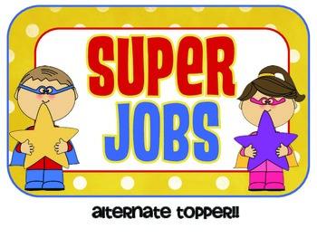 SUPER Classroom Jobs Custom