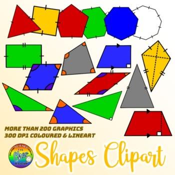 Shapes Clipart: Plane (2D) Geometry Diagrams